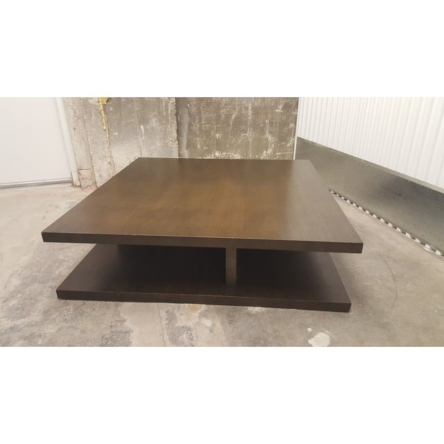 Image of Contemporary Brown Square Low Profile Coffee Table