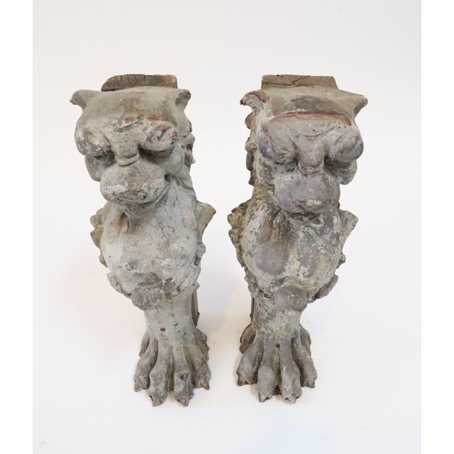 Lion Fireplace Bracket Molds - A Pair - Image 4 of 8