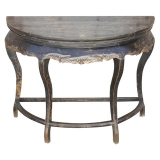 Antique Chinese Demilune Console Table