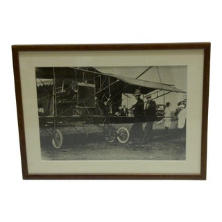 C 1920 Black & White Wright Brothers Airplane Photograph