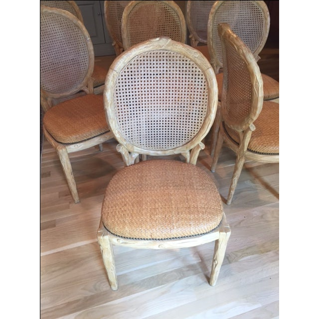 Faux Bois Dining Chairs - Set of 8 - Image 6 of 6