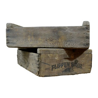 Flippen Bros. Wooden Fruit Crates - A Pair