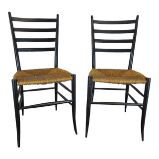 Italian Style Ladderback Chairs - A Pair