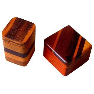 Timothy Lydgate Wood Heirloom Boxes - A Pair