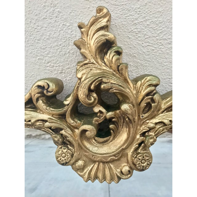 Antique Italian Baroque Gold Gilded Mirror - Image 8 of 11