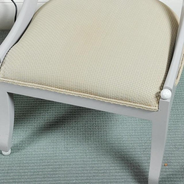 Image of Custom Contemporary Grey Arched Chairs - Pair