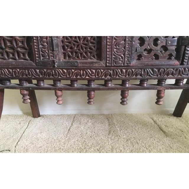 Antique Indian Wood Carved Sideboard - Image 4 of 10