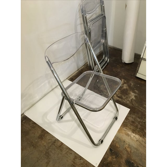 Set of Six Lucite Folding Chairs - Image 7 of 7