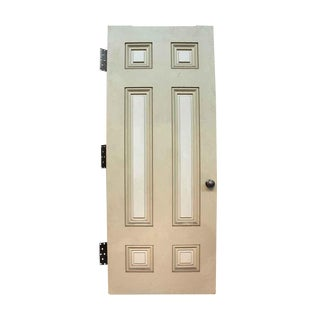 White Six Raised Panel Door & Hardware