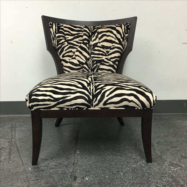 Zebra Print Miley Chair - Image 3 of 10