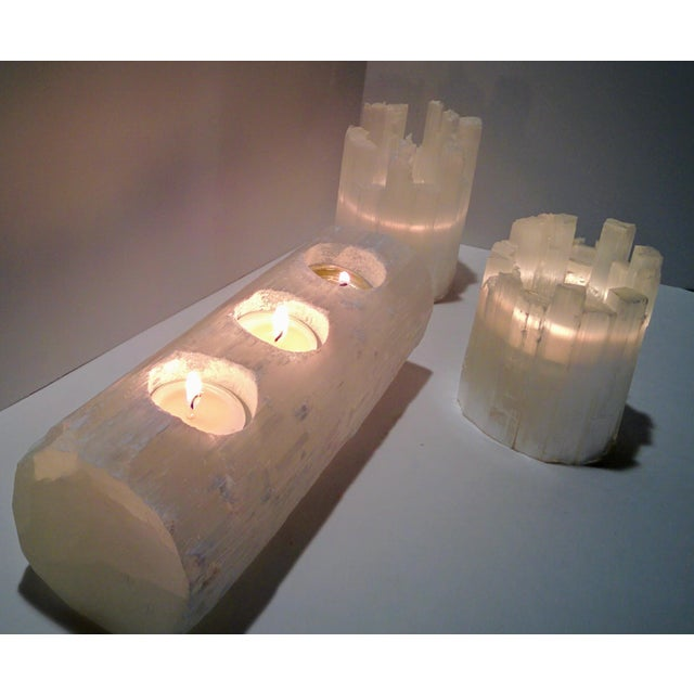 Selenite Branch Tealight Candle Holder - Image 7 of 8