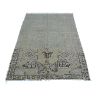 "Faded Beige Oushak Rug - 47"" x 72"""