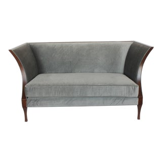 Modern Mohair Loveseat by Baker
