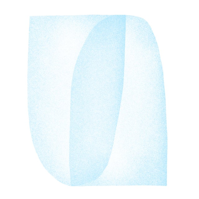 Blue Structure: Soft Geometry by Jessica Poundstone - Image 4 of 4