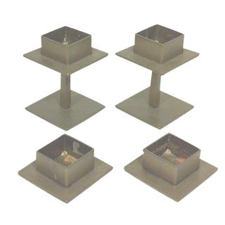 Modernist Square Danish Candle Holders - 4