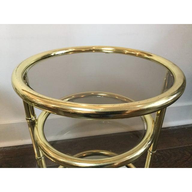 1970's Swivel Brass Side Tables - Image 9 of 11