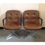 Image of Steelcase Mid-Century Brown Office Chairs - A Pair
