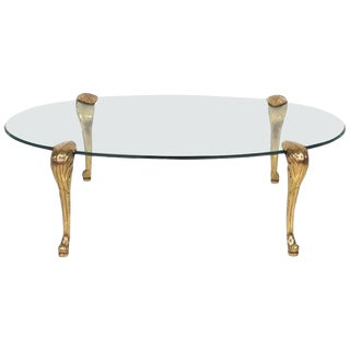 P.E. Guerin-Style Brass and Glass Coffee Table