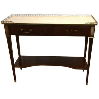 French Directoire Mahogany & Marble Console