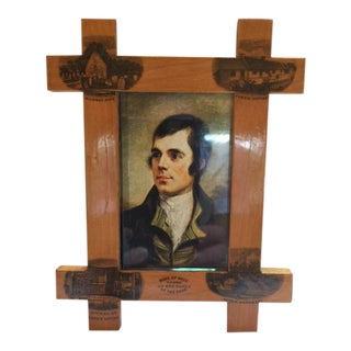 Mauchline Ware Picture Frame of Sycamore Wood