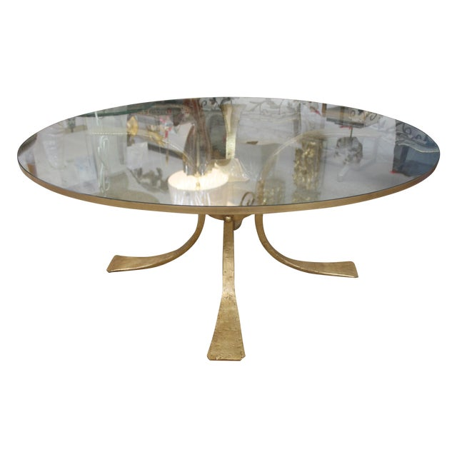 Image of Gold Base & Glass Top Coffee Table