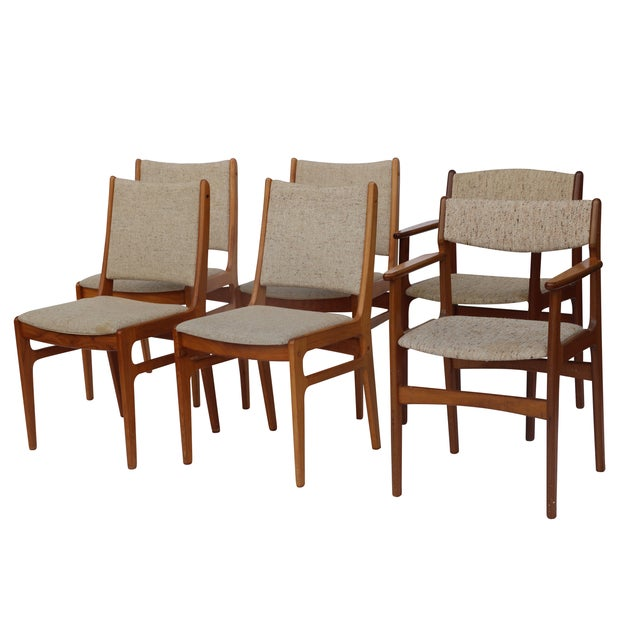 Vintage D-Scan Teak Dining Chairs - Set of 6 - Image 1 of 7