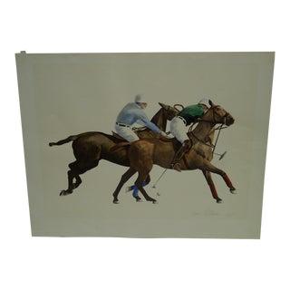 "Original Signed Print ""Polo"" by Anne Lattimore"