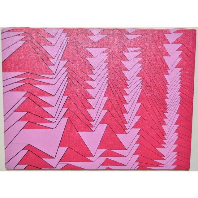 Charles Hersey 1988 Vintage Op Art Painting - Image 2 of 5