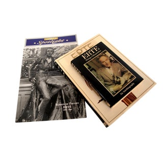 Erte Sculpture Coffee Table Book, Autobiography, and Commemorative Item Books - Set of 3