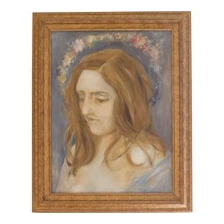 """""""Elizabeth With a Flower Halo"""" Painting"""