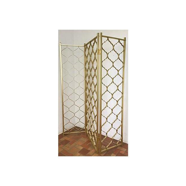 Mid-Century 3 Panel Gold Aluminum Divider - Image 5 of 7