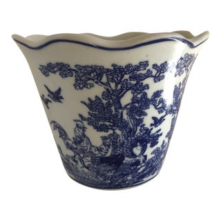Asian Blue and White Plant Pot