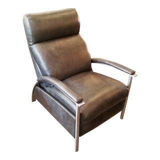 Ethan Allen Modern Gray Leather Recliner