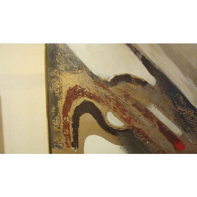 1970s Listed Artist Lee Reynolds Abstract Painting - Image 5 of 6