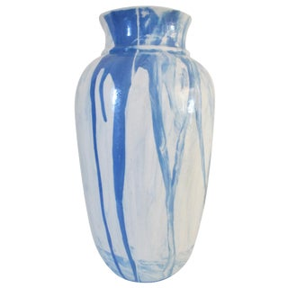 Contemporary Marbleized Ink Splatter Vase
