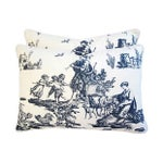 Image of French Countryside Toile Pillows - A Pair