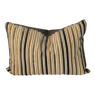 Velvet Striped Lumbar Pillow