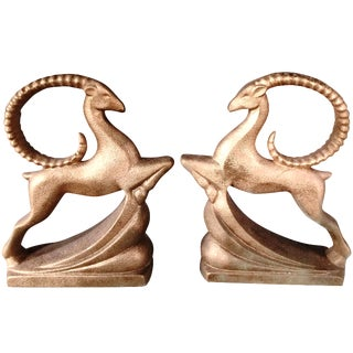 Haeger Art Deco Rams - A Pair