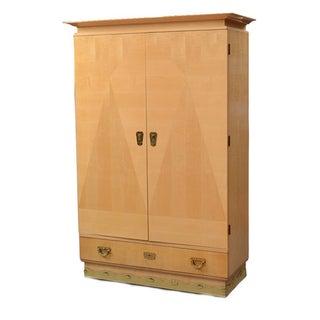 August Ungethum Vintage Art Deco Sycamore Cabinet