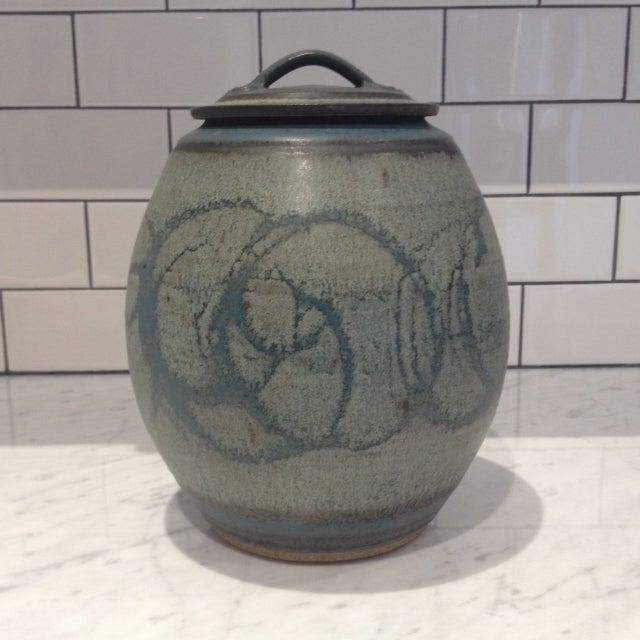 Mid-Century Studio Pottery Lidded Jar - Image 2 of 5