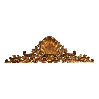 Carved Wood Shell Mantel