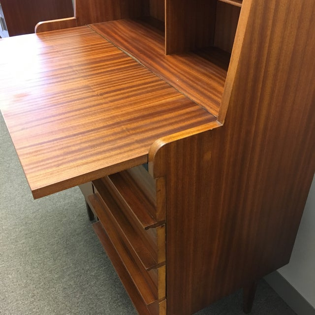 Modern Danish Style Teak Cabinet With Drop Front - Image 9 of 10