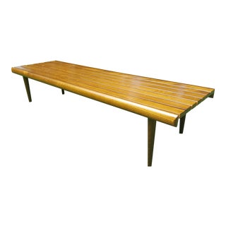 Mid Century Modern George Nelson Style Slatted Coffee Table/Bench