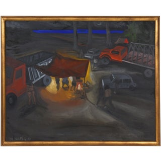Mariano Sapia Vintage 1993 Oil Painting