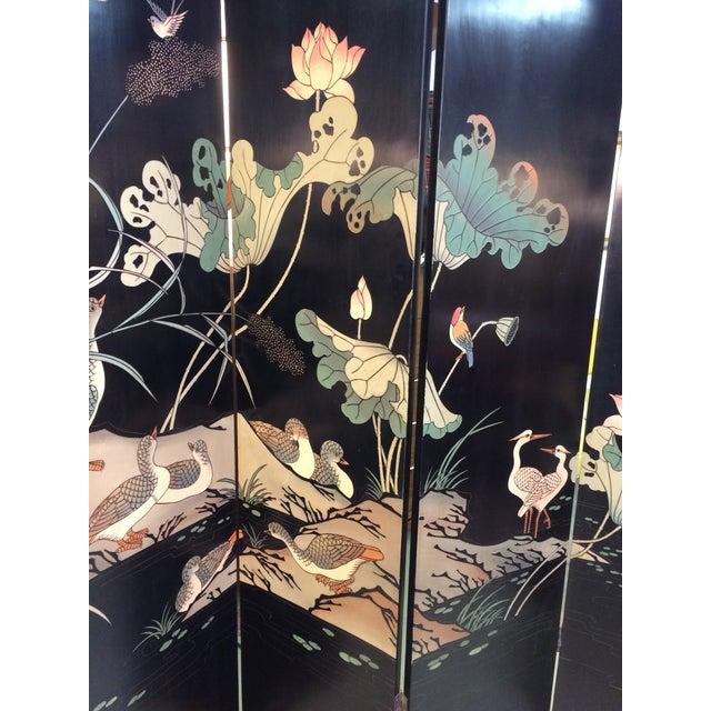 6 Panel Coromandel Folding Asian Screen - Image 4 of 8