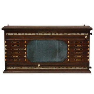 Antique Billiards, Snooker, Pool Score Board