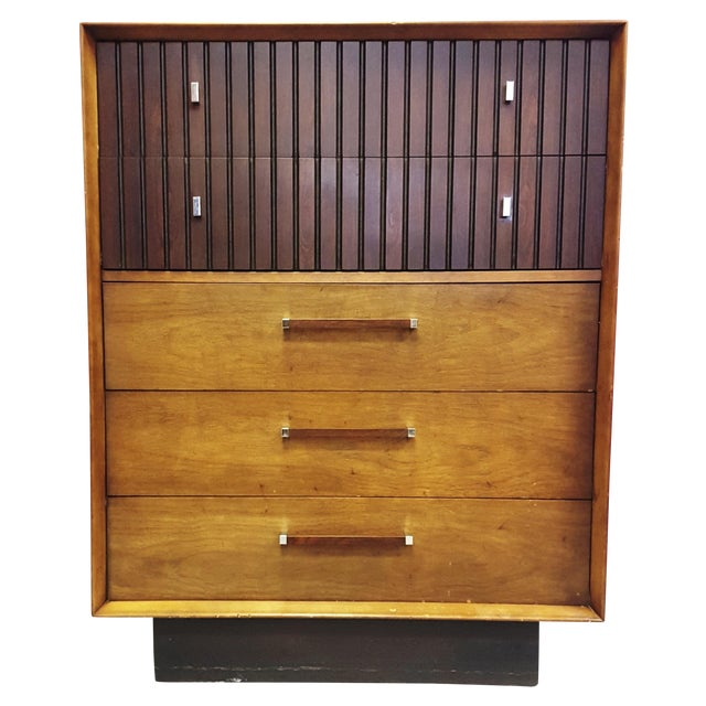 Mid-Century Lane Rosewood Accent Tall Chest - Image 1 of 11