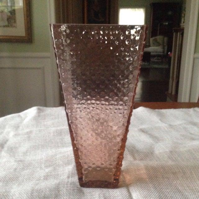 Vintage Pink Glass Hobnail Vase - Image 10 of 11