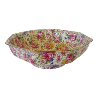 English Chintz Bowl By Royal Winton Co.
