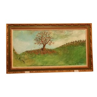 1974 Treescape Oil on Canvas Painting